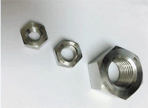 ډوپلیکس 2205 / F55 / 1.4501 / S32760 د سټینلیس فولاد فاسټینرونه دروند هکس نټ M20