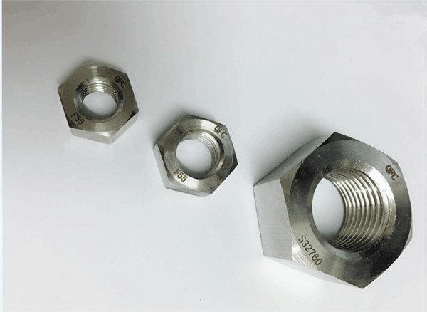ډوپلیکس 2205 / f55 / 1.4501 / s32760 د سټینلیس فولاد فاسټینر دروند هکس نټ m20